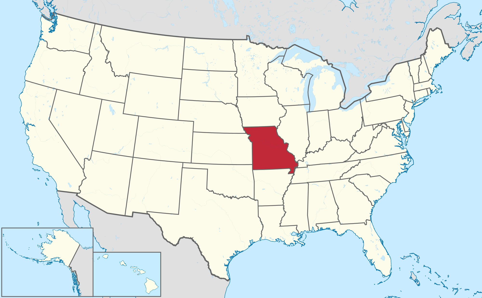 Missouri Map Us – Partistunisie